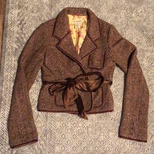 Abercrombie & Fitch Brown Tweed Blazer